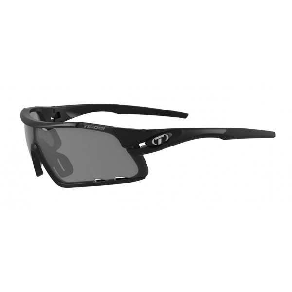 Tifosi Davos Sunglasses, Matte Black with Smoke / AC Red / Clear Interchangeable Lenses