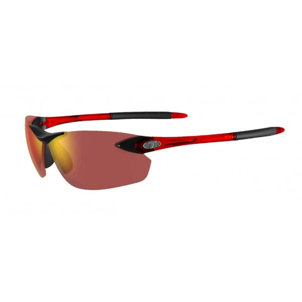 Tifosi Seek FC Sunglasses, Crystal Red with Smoke Red Lens