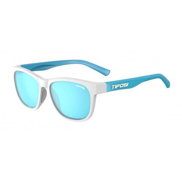 Tifosi Swank Sunglasses, Frost Powder Blue / Smoke Bright Blue