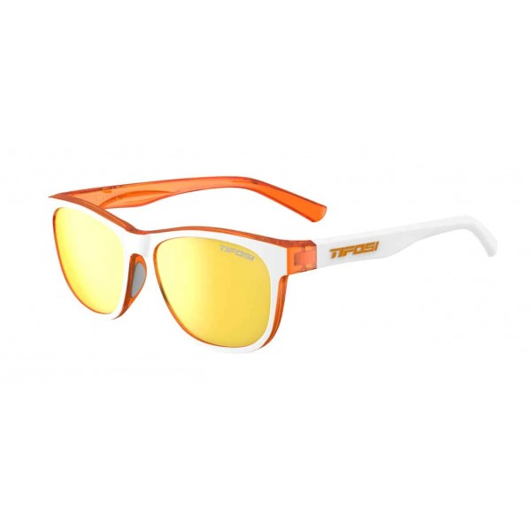 Tifosi Swank Sunglasses, Icicle Orange / Smoke Yellow