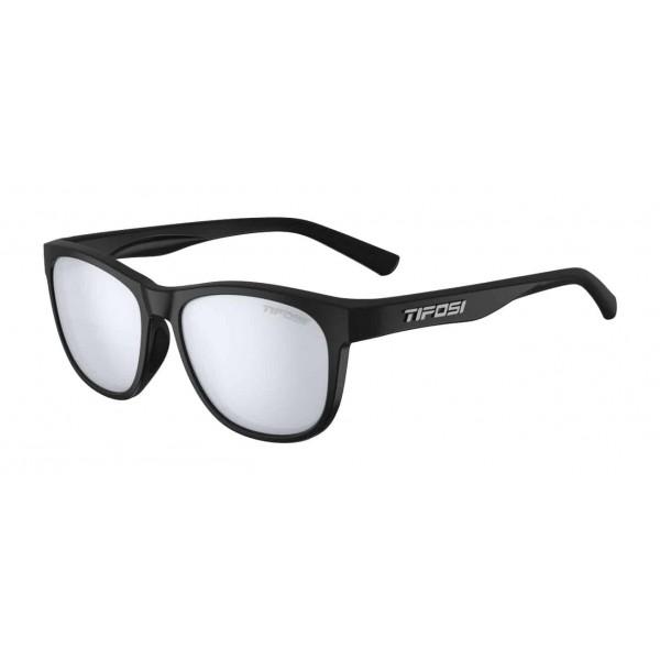 Tifosi Swank Sunglasses, Satin Black / Smoke Bright Blue