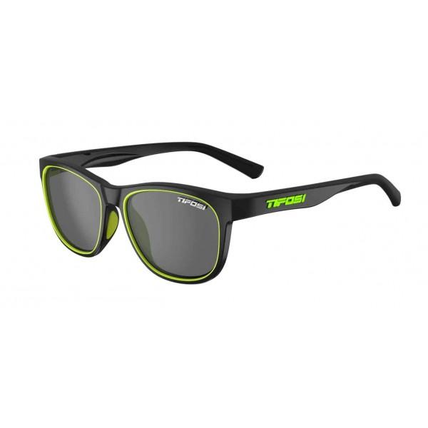 Tifosi Swank Sunglasses, Satin Black Neon / Smoke