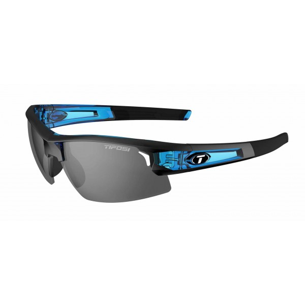 Tifosi Synapse Sunglasses, Crystal Blue with Clarion Red / AC Red / Clear Interchangeable Lenses