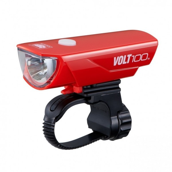 CatEye Volt 100 USB Rechargeable Headlight HL-EL150RC (Red)