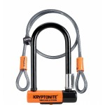 Kryptonite 2079 New-U Evolution Mini-7 Heavy Duty Bicycle U Lock w/4' KryptoFlex Double Loop Bike Cable