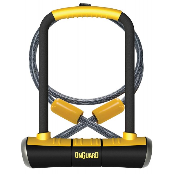 OnGuard 8005 PITBULL DT U-Lock with 4 Foot Loop Cable