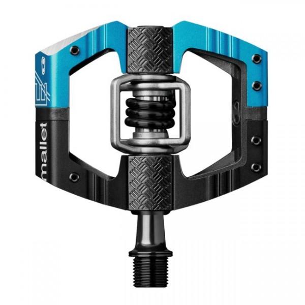 Crankbrothers Mallet E Long Spindle (LS) Bike Pedals, Electric Blue / Black