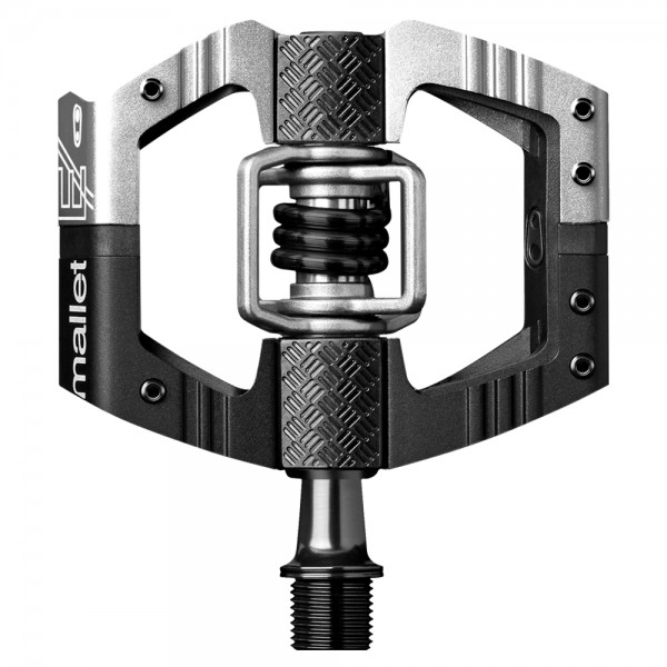 Crankbrothers Mallet E Long Spindle (LS) Bike Pedals, Black / Silver