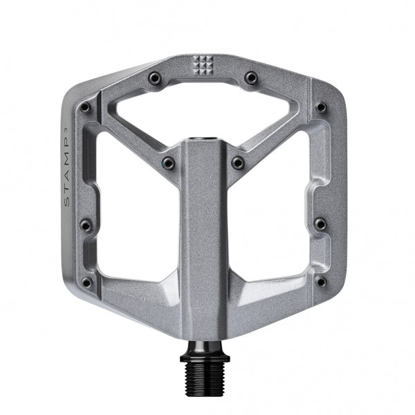 Crankbrothers Stamp 3 (Gen 2) Bike Pedals, Small, Charcoal Grey