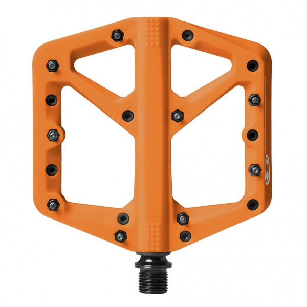 Crankbrothers Stamp 1 Large Bike Pedals, Orange