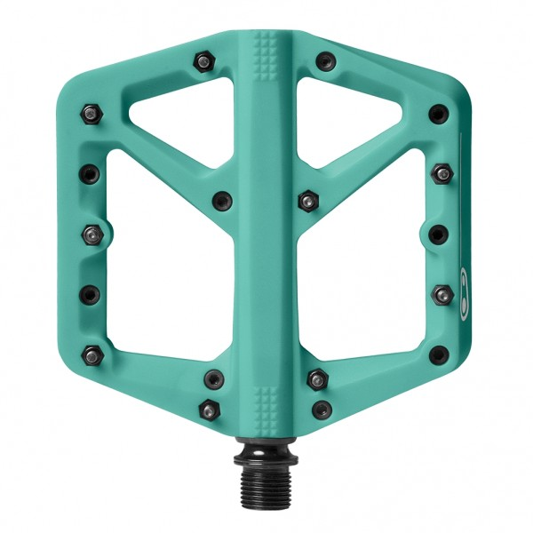 Crankbrothers Stamp 1 Large Bike Pedals, Turquoise