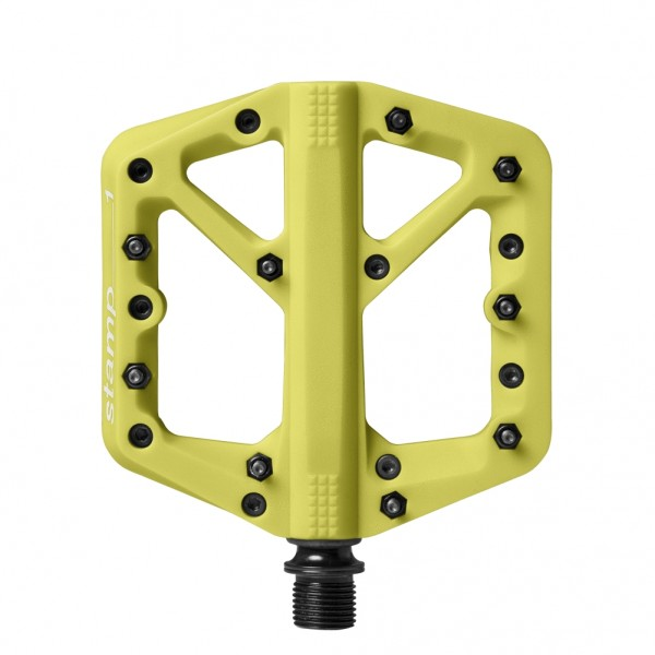 Crankbrothers Stamp 1 Small Bike Pedals, Citron