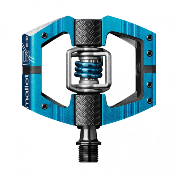 Crankbrothers Mallet E Bike Pedals, Electric Blue / Electric Blue