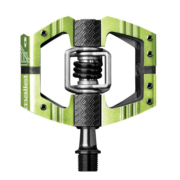 Crankbrothers Mallet E Long Spindle (LS) Bike Pedals, Green (Special Edition)