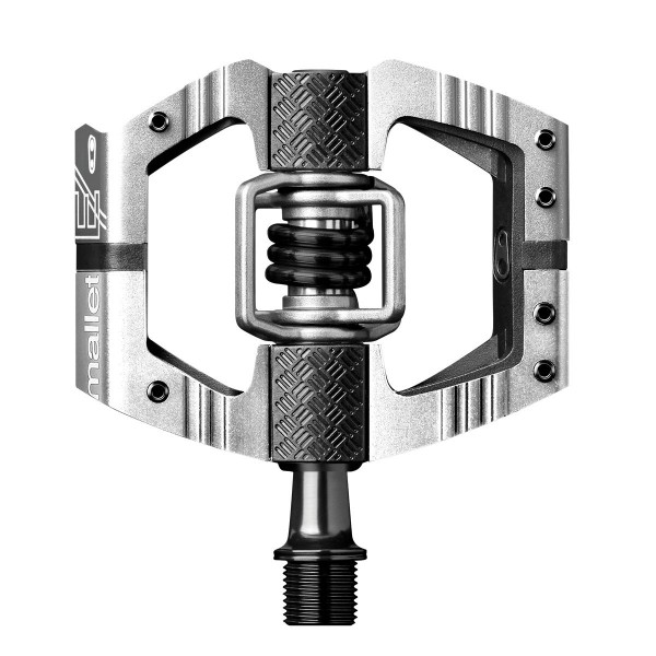 Crankbrothers Mallet E Long Spindle (LS) Bike Pedals, Silver (Special Edition)