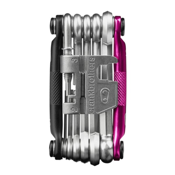 Crankbrothers m17 Bike Tools, Black / Pink