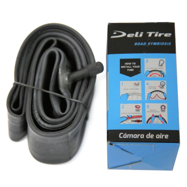 "Deli Bicycle Inner Tube 20"" x 1.75 - 2.125"", Schrader Valve 35mm"